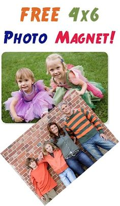 FREE 4x6 Photo Magnet! {just pay s/h} ~ add some flair to your fridge, or stash away a thrifty gift! #photo #magnets