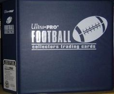 Ultra Pro BLUE Football Card Album 3 Inch DRing Binder and a Sealed Box of 9 Pocket Storage Sheets 100 Pages ** Click on the image for additional details.Note:It is affiliate link to Amazon.