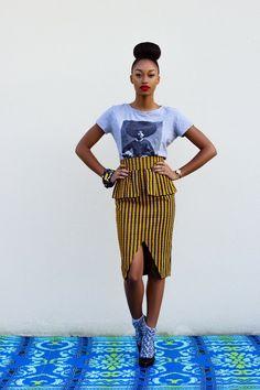 JUPE AMY #afrochic By Natacha Baco