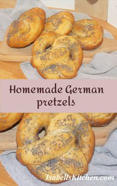 Homemade German pretzels - video recipe - isabell's kitchen Best Breakfast Recipes, Brunch Recipes, Yummy Recipes, Great Recipes, Yummy Food, Healthy Recipes, Savoury Baking, Group Meals, International Recipes