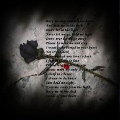 some loves are never meant to be.... regardless on how you both fight, it will always ends in tragic.... So Bury me Deep.... inside your heart my Love!