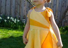 Pieced sunshine dress, with tutorial. So pretty!