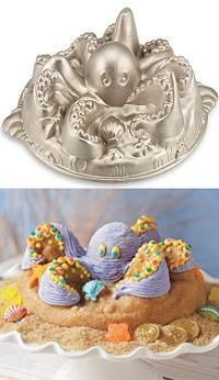 Octopus cake pan. From Williams-Sonoma a few years back.