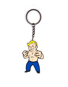 Fallout Vault Boy Strength Keychain - Gamer Loot
