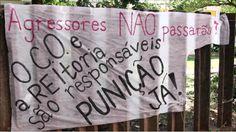 """Alunas da USP: """"A universidade precisa punir agressores de mulheres!""""  Desde o dia 6 de abril elas ocupam o prédio residencial da Cidade Universitária, o CRUSP, exigindo que a reitoria se posicione a favor das vítimas de agressão e estupro"""