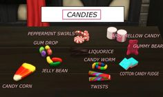 Mod The Sims: Functional candy Dispenser with Edible Candies by icemunmun • Sims 4 Downloads