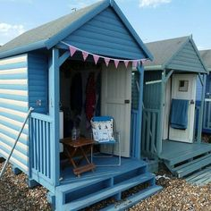Beach hut, can't beat good old Whitstable British Beaches, British Seaside, Seaside Beach, Blue Beach, Cottages By The Sea, Beach Cottages, Beach Shack, Beach Huts, Cabana