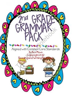 Second Grade Grammar Pack product from Reading-Writing-Redhead on TeachersNotebook.com