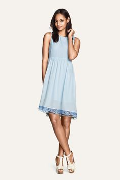 Blue lace dress. #HMDIVIDED