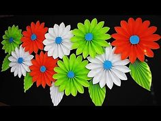 Do you need papercrafts ideas for kids as assessment or for your kid's projects on holiday? There are several ideas of papercrafts that you can make. Papercraft is cheap and you can find the material easy in a stationery shop and craft shop. Hanging Flower Wall, Paper Flower Wall, Flower Wall Decor, Paper Flowers Diy, Paper Crafts For Kids, Craft Stick Crafts, Preschool Crafts, Diy Crafts, Stage Decorations