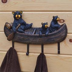 The Bear Family Wall Hanger features an adorable bear family outing and is a charming way to enhance your rustic decor.