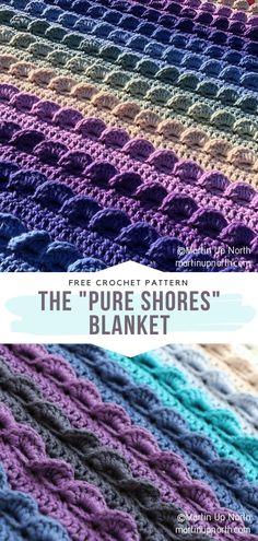 Crochet Stitches For Blankets, Crochet Stitches Free, Free Crochet, Knit Crochet, Crochet Things, Crochet Ideas, Crochet Projects, Crochet Quilt Pattern, Crochet Cardigan Pattern
