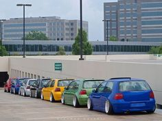 I love vw golf that is tuned. The mk4 is my favorite. The picture is cool with the colours.