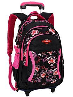 34db2ec5ea BAIJIAWEI 2017 Cartoon Design Children s School Backpacks Detachable  Backpack For Girls Pretty Trolley Kids Bags Princess Style
