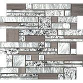 Found it at Wayfair - Vista Random Sized Glass Splitface Tile in Silver