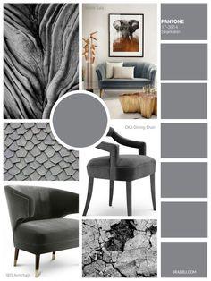Sharkskin | 9 Amazing Mood Boards To Inspire Your Next Fall Home Decor Project | Interior Design Inspiration. Color Trends. #colortrends #interiordesign #homedecor Read more: https://www.brabbu.com/en/inspiration-and-ideas/interior-design/moodboard-inspiration