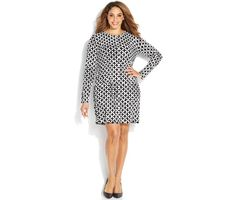 Michael Michael Kors Plus Size Long-Sleeve Printed Shift Dress Winter Dress Outfits, Casual Summer Dresses, Trendy Dresses, Tight Dresses, Plus Size Dresses, Nice Dresses, Dresses For Work, Crop Top Styles, Black Sparkle Dress
