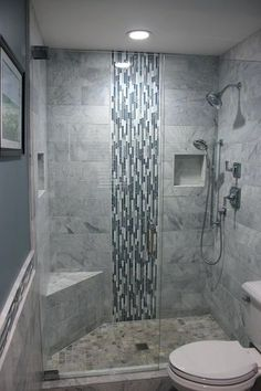 Shower Glass Block Shower Wall Designs Good Example Of A Recessed Product Niche In Tile Which Keeps The Shower Neat And Shower Wall Tile Design Ideas Bathroom Shower Wall Tile Designs Shower Wall Designs