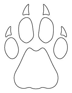Cheetah Paw Print Pattern Use The Printable Outline For Crafts Creating Stencils Scrapbooking
