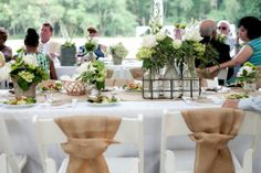 When an adorable duo like this one ties the knot, you know it's going to be good. You just know. Especially when that adorable duo happens to love sweet rustic details, bundles of baby's breath and fun-filled shindigs on the family