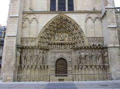 Portada de la Coronería en la Catedral de Burgos. Destacan sus galerías de reyes. - Modelos franceses en la estatuaria gótica en España.