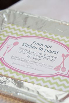 From the Kitchen: Gifting Dinner Printable Package - PDF. Cute.