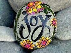 Joy Solid Rock, Firm Foundation, Cornerstone Paint a rock