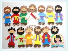 Personagens Bíblicos em EVA  Aproximadamente 20cm de altura  Para contar histórias Bíblicas ou decoração de sala.