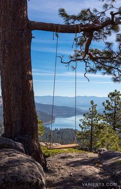 Donner Lake in Donner Pass near Truckee, Nevada, California by Justin Majeczky.this is a beautiful place. The lake is surrounded by mountains. Beautiful World, Beautiful Places, Places To Travel, Places To Go, Donner Lake, Le Havre, Peaceful Places, California Dreamin', Northern California