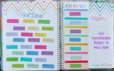 meal plan stickers for erin condren planner - Google Search