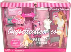 Barbie Fashion Fever Shopping Boutique doll furniture Store play set L5706 NRFB #Mattel #Barbiedollsizedfurniture