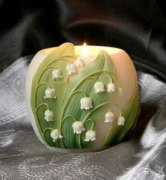 Cast in bonded marble, producing a warm, glowing light, this tall Glass Votive will look lovely by a bedside or on the patio. Lily of the Valley Scented Soy Votive Candles are also available t . Votive Candle Holders, Votive Candles, Glass Votive, Fire Candle, Lily Of The Valley Flowers, Cottage Chic, Candle Making, Tea Lights, Orchids