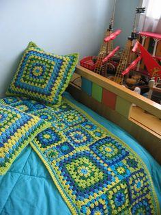 Conjunto  Fundas de almohadon x 2 y pie de cama