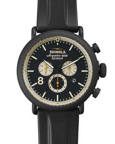 Shinola 47mm Runwell Chronograph Watch, Black