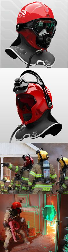 Adoro il design e la tecnologia usati per il miglioramento della vita. C-Thru: Helmet Enables Firefighters To See Through Smoke