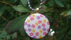 Spring Flowers Wood Pendant, Colorful Little blooms #tcshgg #thecraftstar $9.00
