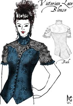 Victorian Lace Blouse by Amber Middaugh