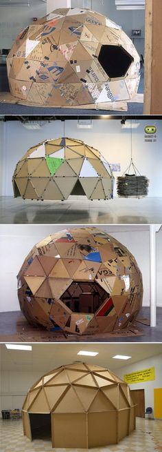 Cardboeard domes