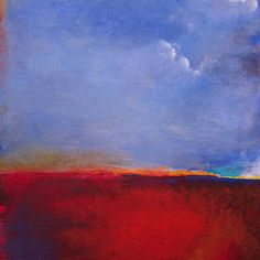 From my shop: Horizon (2014) Acrylic on canvas, 48x60. http://gorntoart.com  #abstractart