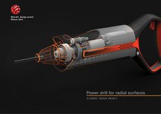 RADR- power drill for radial surfaces on Behance