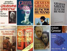 Cubiertas de El factor humano, de Graham Greene