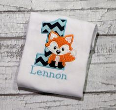 Fox Birthday Shirt, Woodland Birthday Party, Personalize with your child's age and favorite colors