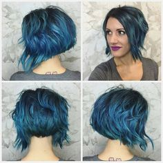 Blue Hair short https://instagram.com/meucabelocurto/