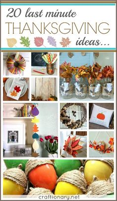 20 Thanksgiving Last Minute Ideas - Craftionary