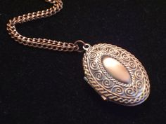 Vintage Style Swirled Braid Oval Copper Locket  by LoveLockets, $18.00