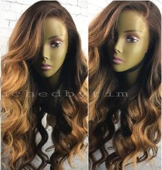 200% Density Brown Balayage Lace Front Human Hair Wig - touchedbytim010 [touchedbytim010] - $479.99 : Full Lace Wigs & Lace Front Wigs | RPGSHOW - Bold & Sexy Hair