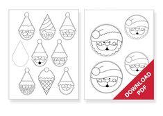 Santa template for cookies
