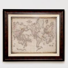 One of my favorite discoveries at WorldMarket.com: 'Johnson's World Map'