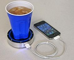 Charge your phone with a cold drink too!