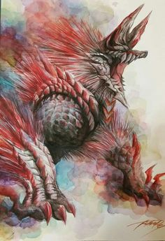 Black And Red / Zinogre Art MH3U